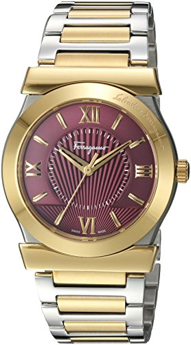 Salvatore-Ferragamo-Womens-VEGA-GENT-Quartz-Stainless-Steel-Casual-Watch-ColorTwo-Tone-Model-FI0910016
