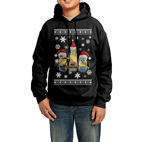 Youth Merry Christmas Minions Casual Hoodie