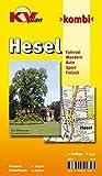 Hesel: 1:12.500 Gemeindeplan mit Freizeitkarte 1:25000 mit Rad- und Wanderwegen (KVplan Ostfriesland-Region / http://www.kv-plan.de/Ostfriesland.html)