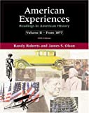 img - for American Experiences: Readings in American History, Volume II (5th Edition) book / textbook / text book