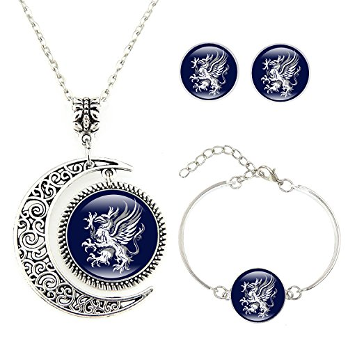 Crest Jewelry Pendant (Moon pendants Dragon Age Gray Wardens necklace Symbol Logo pendant Crest jewelry Custom Necklace Bracelet Earrings jewelry Set Gifts)