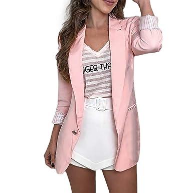 Mxjeeio 🔥 Chaqueta Mujer Vestir Casual Elegante Básica Blazer de ...