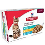 Hill's Science Diet Adult Tender Dinners Variety Pack Canned Cat Food 12 Pack