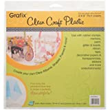 """Grafix Clear Craft Plastic .007 Thickness 6-Inch by 6-Inch, 8"""" x 8"""""""