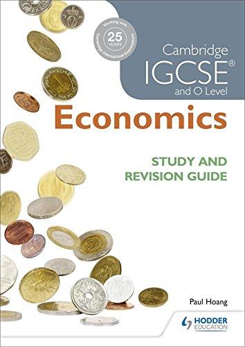 Cambridge IGCSE And O Level Economics Study And Revision Guide  Igcse Study Guides