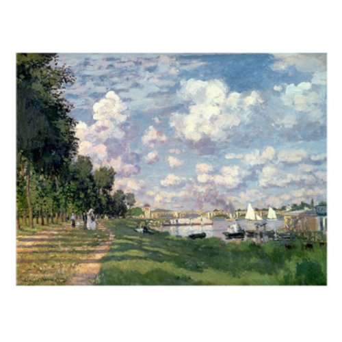 The Marina at Argenteuil 1872 by Claude Monet, 24x32-Inch Canvas Wall ()