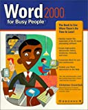 Word 2000 for Busy People, Christian Crumlish, 0072119829