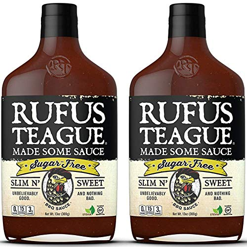 Rufus Teague: Sugar-Free BBQ Sauce - Premium BBQ Sauce - Natural Ingredients - Award Winning Flavors - Thick & Rich Sauce - Made with Stevia - Keto, Gluten-Free, Kosher, & Non-GMO - 2pk (Best Barbecue Sauce Brand)
