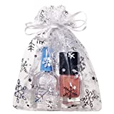 Crafts Organza Gift Bags | White with Silver