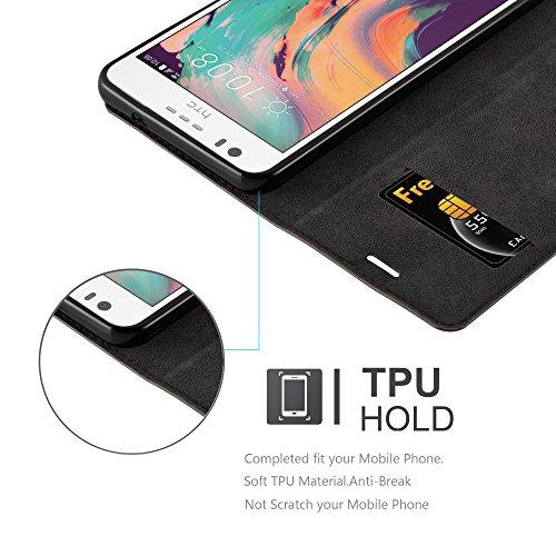 Cadorabo - Funda Book Style Cuero Sintético en Diseño Libro para >                                                  HTC DESIRE 10 LIFESTYLE / DESIRE 825                                                  <