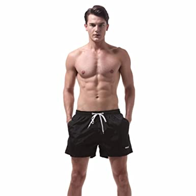 1e36e1a22b5 Halijack Men Shorts Mens Summer Beach Volleyball Swim Trunks Fashion Pool  Swimming Waterproof Quick Dry Bodysuits Casual Home Shorts Pants Fitness  Surfing ...