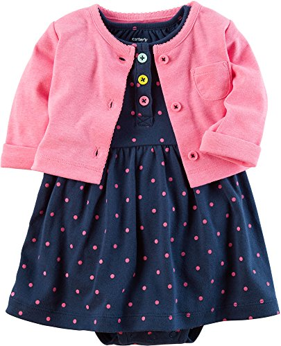 Carters Baby Girl 2 Piece (Carter's Baby Girls' 2 Piece Dress Set 6 Months)