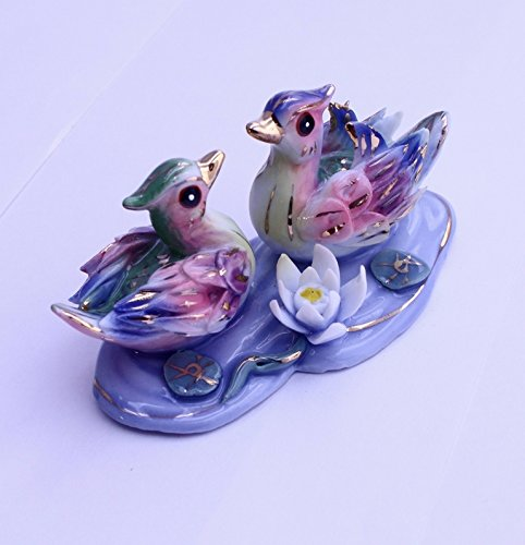 Feng Shui Ducks - Hand Crafted and Decorated Chinese Porcelain,figurine D03008.