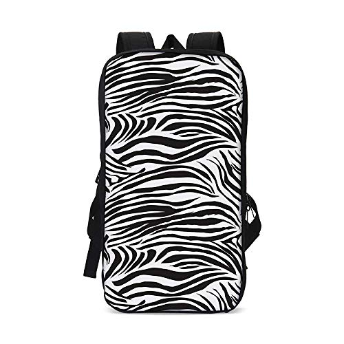 Zebra Print Stylish iPad Backpack,Striped Zebra Animal Print Nature Wildlife Inspired Fashion Simple Illustration for School Office,9.8