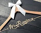 Rustic wood name wedding dress hanger, bridemaid dress hanger, bridal shower gift CML004