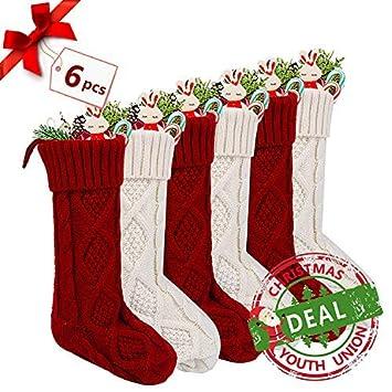 YouthUnion Medias de Navidad 4pcs 6pcs Calcetines de Navidad para Regalo del Bolso de Azúcar Decoración