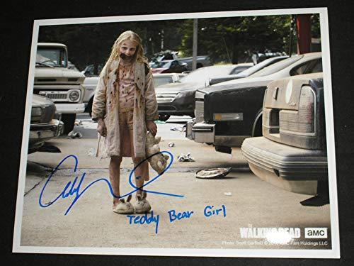 Addy Miller Signed Custom 8x10 Photo Summer Teddy Bear Girl The Walking Dead A]()