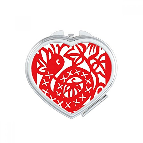 DIYthinker Paper-cut Snake Animal China Zodiac Heart Compact Makeup Mirror Portable Cute Hand Pocket Mirrors Gift by DIYthinker