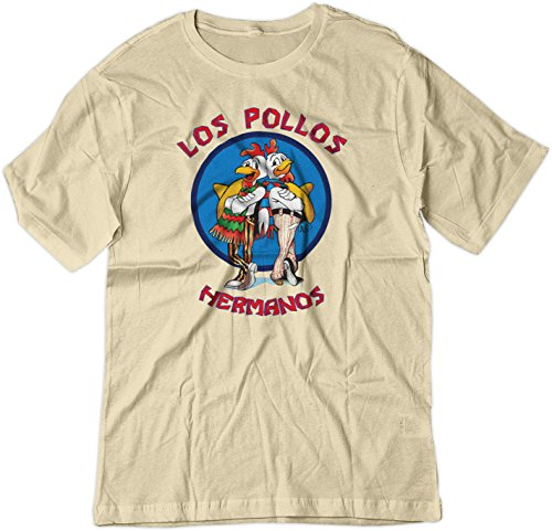 488474a85a64c BSW Men's Los Pollos Hermanos Fried Chicken Breaking Bad Shirt XS Natural