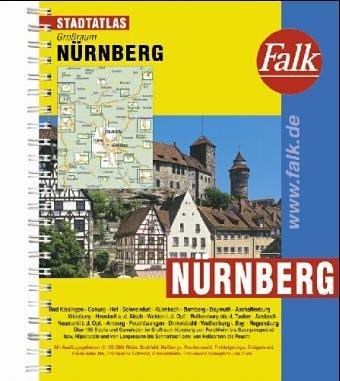 Falk Pläne Großraum Städteatlas Nürnberg