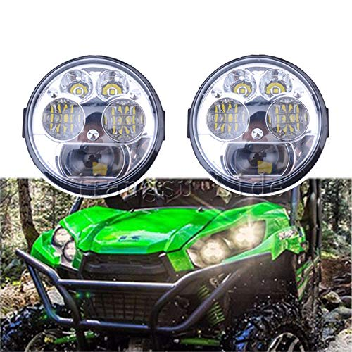 FidgetFidget LED Headlight UTV Replacement for 12-18 Kawasaki Brute Force 750