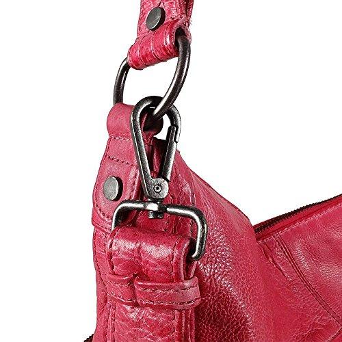 FREDsBRUDER Funtastic Schultertasche Leder 33 cm pink