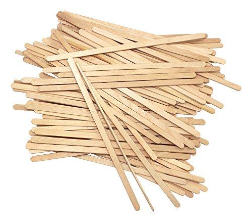 Disposable Birchwood Tea Wood Coffee Stir Sticks Wooden Stirrers 7 Inch 100 Pcs
