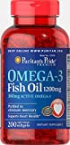 Puritan's Pride Omega-3 Fish Oil Softgels, 1200 mg, 200 Count