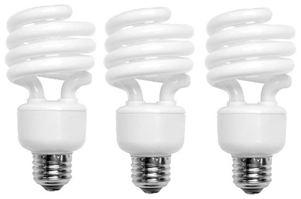 TCP 68914DL3 CFL Mini Spring A Lamp - 60 Watt Equivalent (only 14W used) Daylight (5000K) Standard Spiral Light Bulb - 3 pack