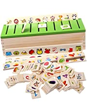 Sharplace Montessori Juegos de Madera Carton 3D Clasificación de Juguetes para Niños Educación Temprana