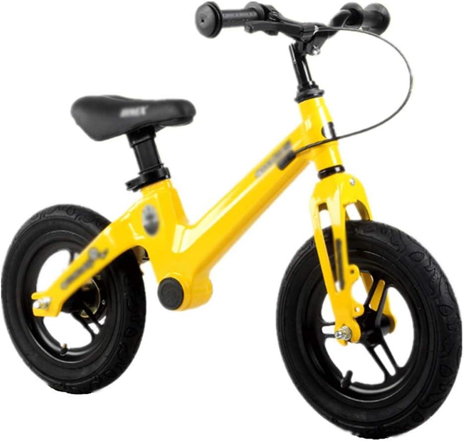 ZQY Bicicleta de Equilibrio de los niños sin Pedal de aleación de Soporte del niño Vespa de los niños del Tren Capacidad de Equilibrio y coordinación Deportes 12 o 14 Pulgadas (Color : B)