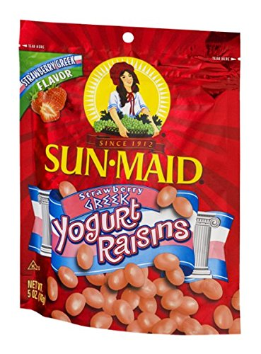 - Sun-Maid Yogurt Raisins Strawberry Greek