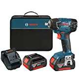 Bosch 24618-01 18-Volt Lithium-Ion 1/2-Inch Square Drive Impact Wrench Kit with 2 Batteries, Charger and Case