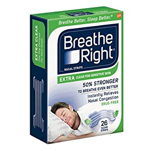 Breathe Right Extra Clear for Sensitive Skin