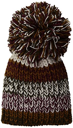 BCBGMAXAZRIA Women's Fringe Pom Party Beanie