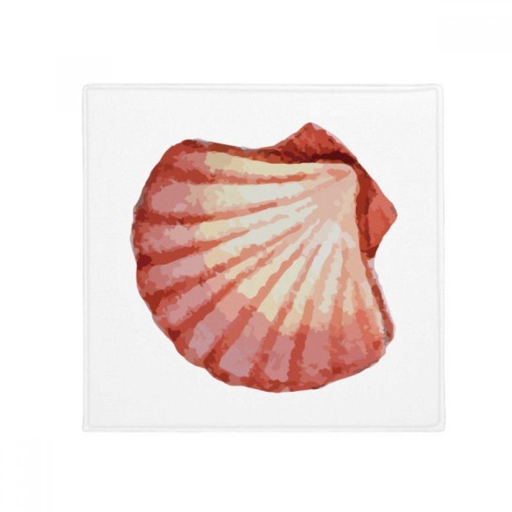 DIYthinker Scallop Marine Life Red Illustration Anti-Slip Floor Pet Mat Square Home Kitchen Door 80Cm Gift