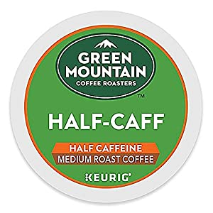 Green Mountain Coffee Roasters Half-Caff Keurig Single-Serve K-Cup Pods, Medium Roast Coffee, 12 Pods (Pack Of 6)
