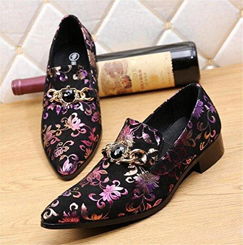 Impresión Tamaño Diamante Zapato Imitación Mocasines De 45 Nanxie Dj Zapatos A Formal Nocturno Eu38 38 Flor Negocio Hombre Club xwp7Y6YS0