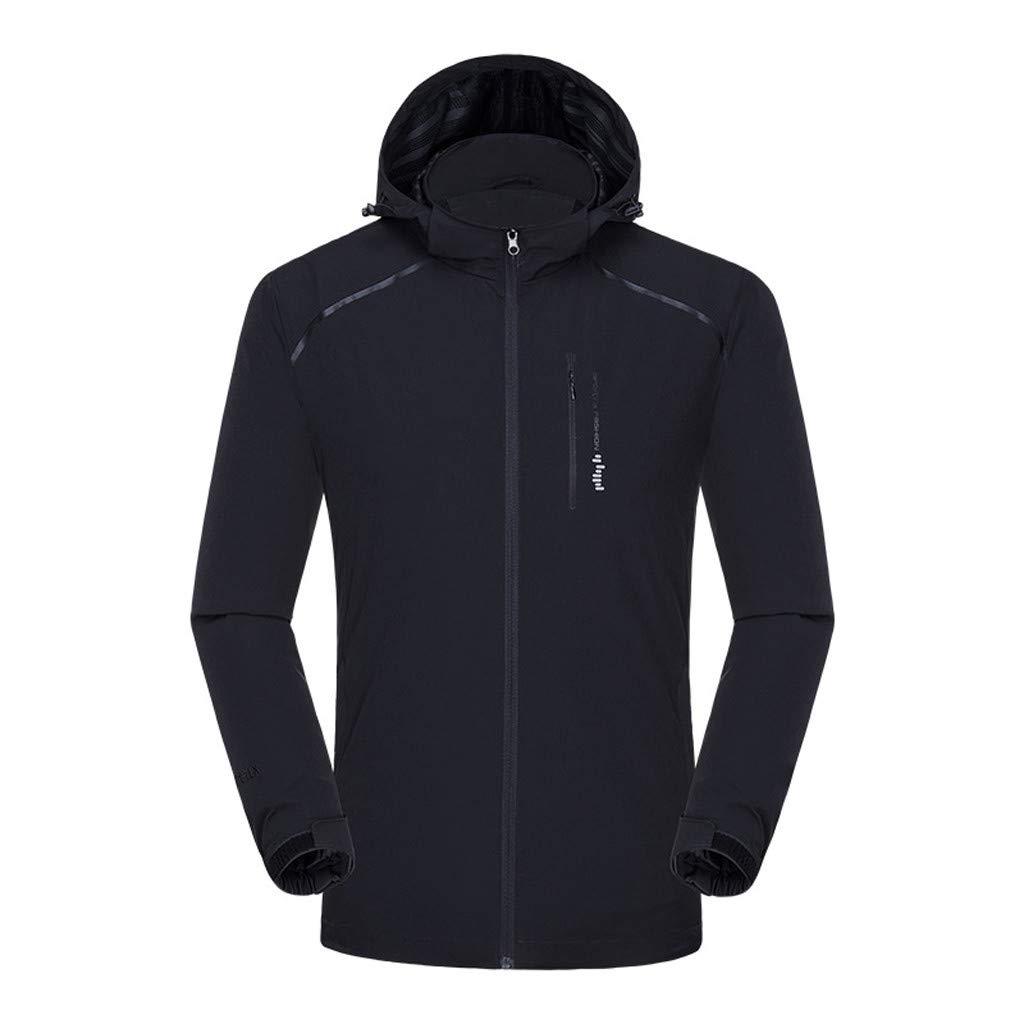 Cuekondy Unisex Waterproof Sports Windbreaker Quick Drying Breathable Rain Jacket Outdoor Lightweight Hooded Coat