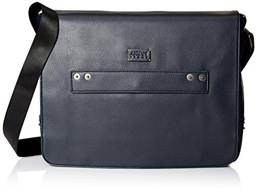 Armani Jeans Men's Deerskin Look Embossed Messenger Bag -