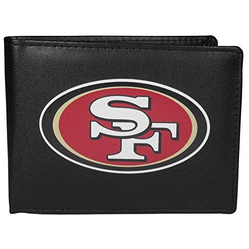 Siskiyou NFL San Francisco 49ers Bi-Fold Wallet Logo, Large, Black