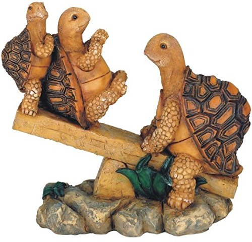 [George S. Chen Imports SS-G-61058, 3 Turtles On Seesaw Garden Decoration Collectible figure Statue Model] (Garden Figure)