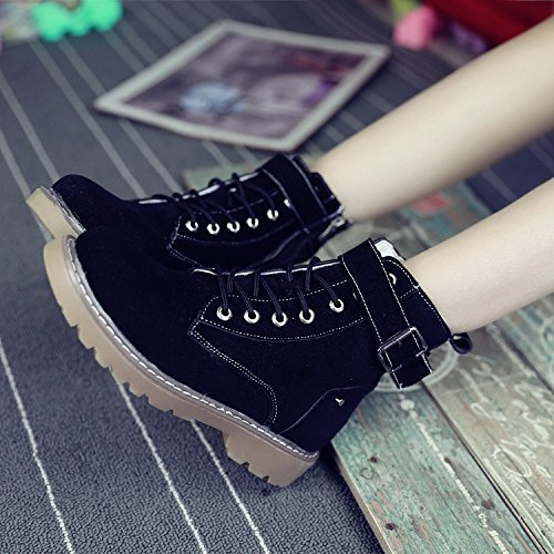 KHSKX-The New Shoes Autumn Designer Shoes All-Match British Style Retro Fashion Shoes With Thick Soles Thirty-six CzhRjGU2