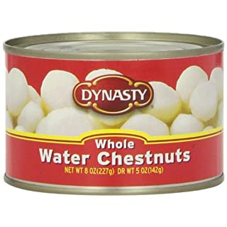 Dynasty Canned Whole Water Chestnuts, 8-Ounce (Pack of 12)
