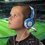 Ultimateaddons Enfants Pliants Petit DJ Style Casque compatible avec Vtech DigiGo enfants Tablette - Bleu
