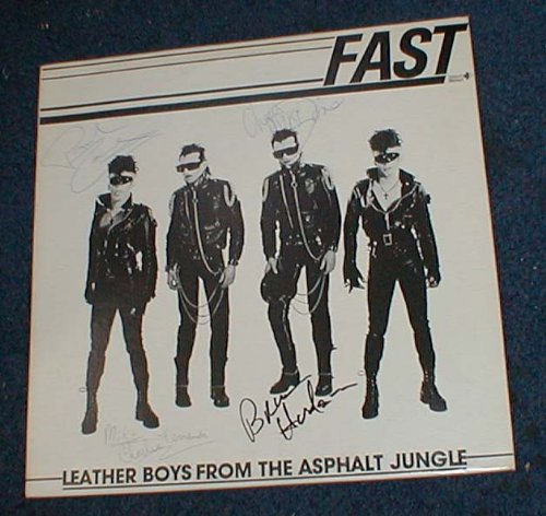Leather Boys From The Asphalt Jungle autographed LP