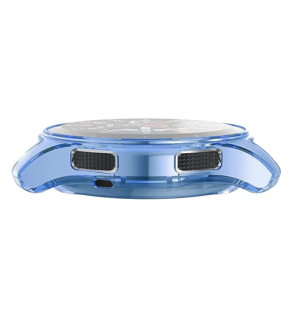 Geilisungren Funda Completa para Huami Samsung Galaxy Watch 46mm Watch Protección Suave de TPU de Silicona Smartwatch Protector (Azul,Tamaño Libre): ...
