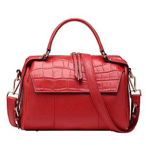 Cocodrilo Para color Piel Estilo Mano Olprkgdg Red Casual Bolso De Mujer Gray qw4U6ZHS