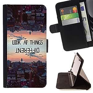 Momo Phone Case / Flip Funda de Cuero Case Cover - Les choses différemment de motivation - HTC DESIRE 816