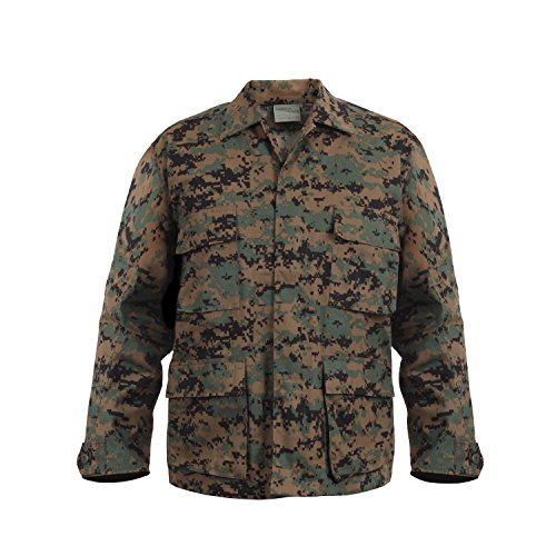 Woodland Camo Bdu Military Shirt - 4